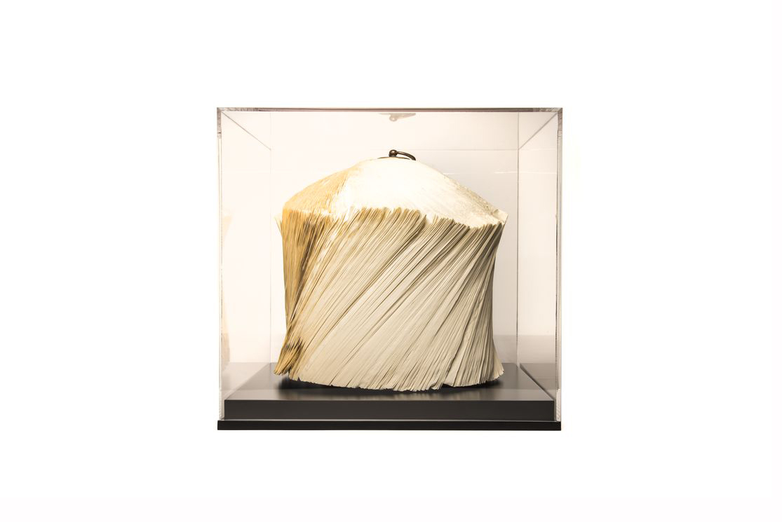 CRIZU_FOLDED_BOOKS_PAPER_SCULPTURE_DESIGN_HAND_MADE_ITALY_BLOWN_CUPOLA_BLACK