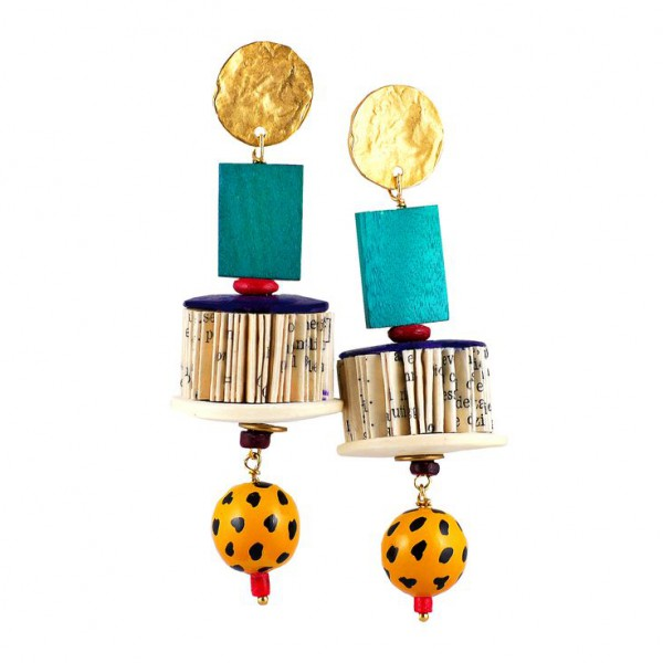 CRIZU_FOLDED_BOOKS_PAPER_EARRING_DESIGN_HAND_MADE_ITALY_FRIDA_